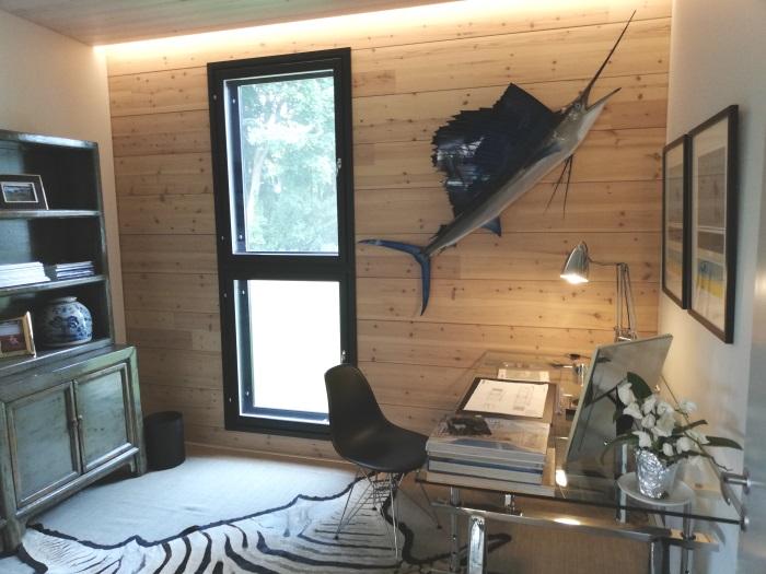 casa de madera lujo estudio