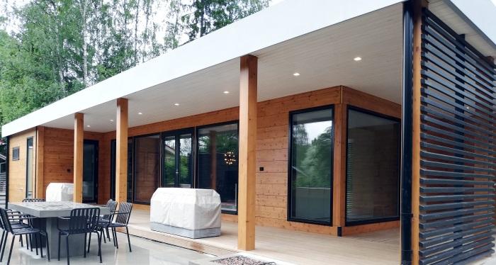 Visitando una casa de madera de lujo en finlandia 2019