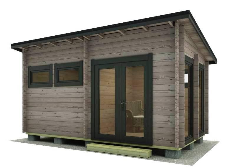 casas de madera camping moderna